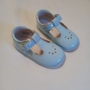 ANGEL   Baby blue t-strap shoes